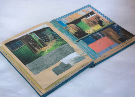 Inside pages of the 'pigeon lofts' research books